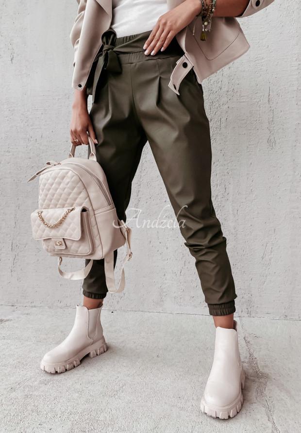 Spodnie Woskowane Aldona Khaki