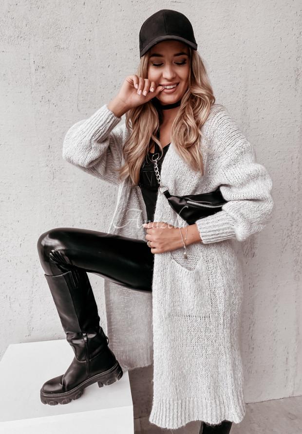 Sweter Kardigan Moher Nivra Grey