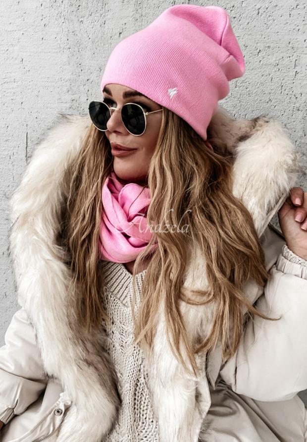 Czapka Foggy Pink
