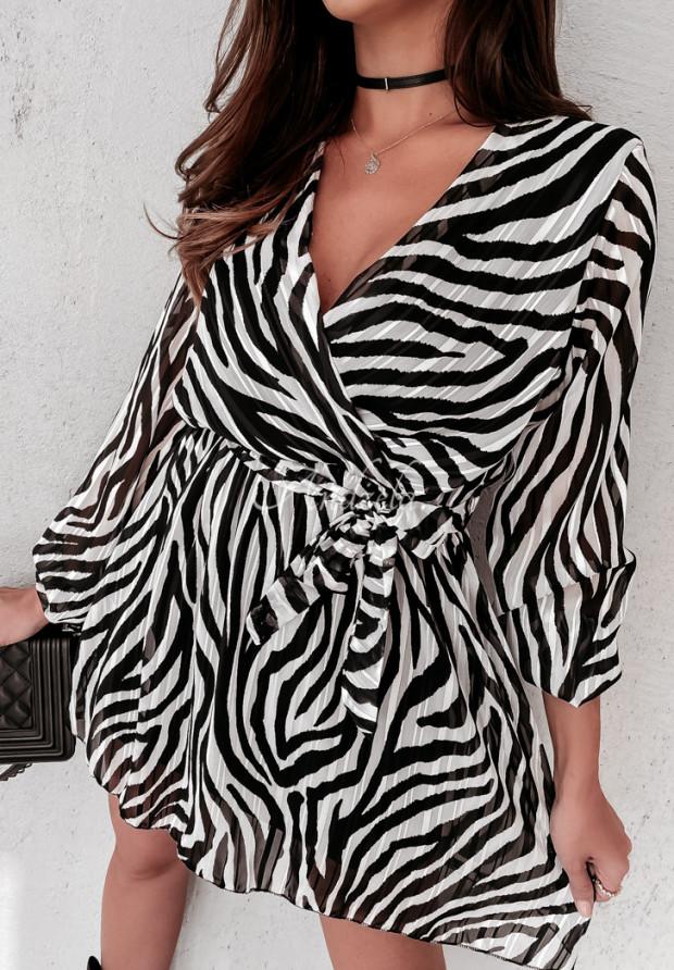 Sukienka Mandy Zebra Black&White