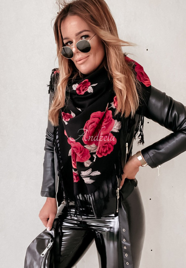 Chusta Roses Black