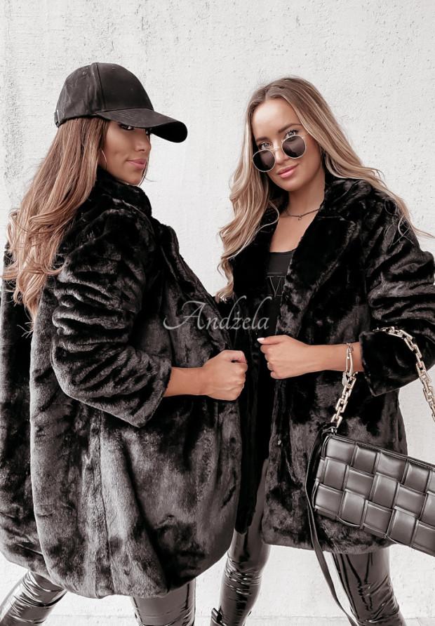 Płaszcz Futro Neily Black