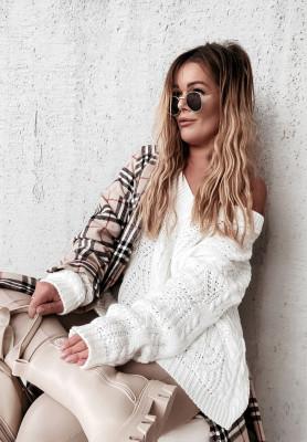 Sweter Oversize Vicaldo Ecru
