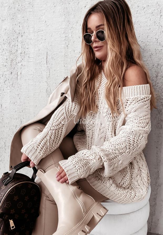 Sweter Oversize Vicaldo Beige