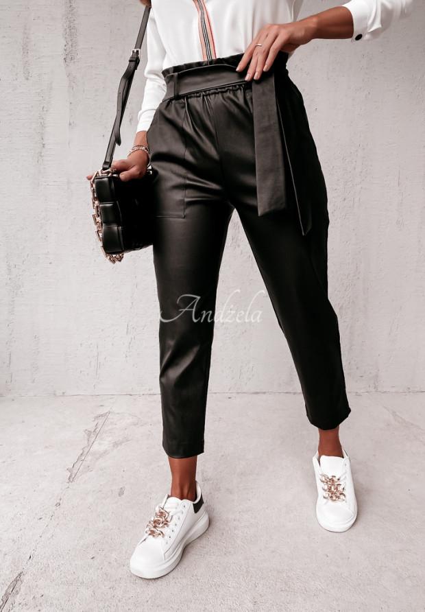 Spodnie Woskowane Lucea Black