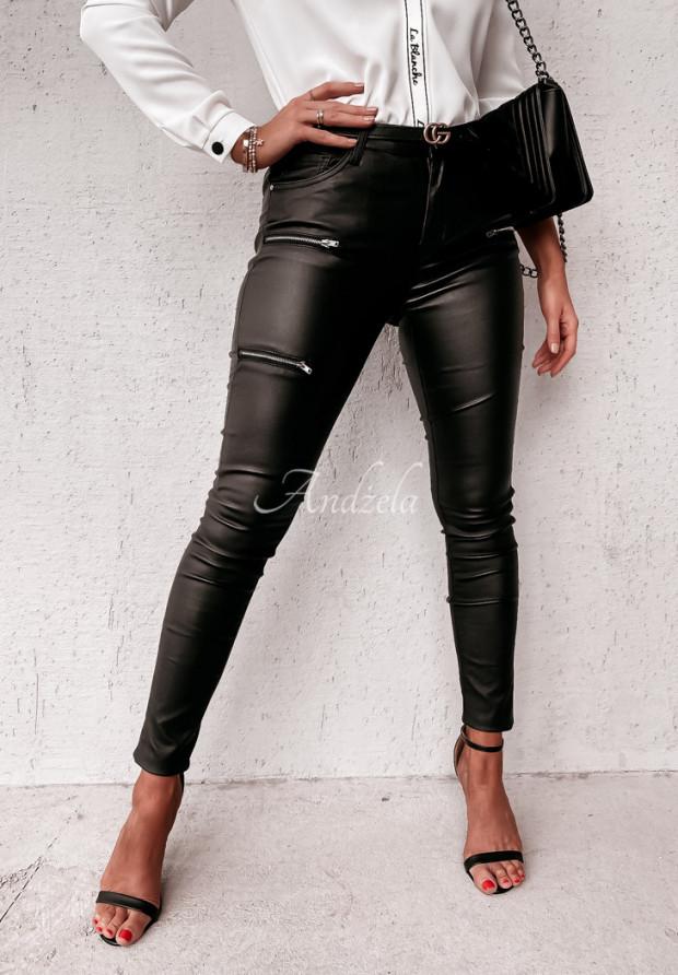 Spodnie Woskowane Irmina Black