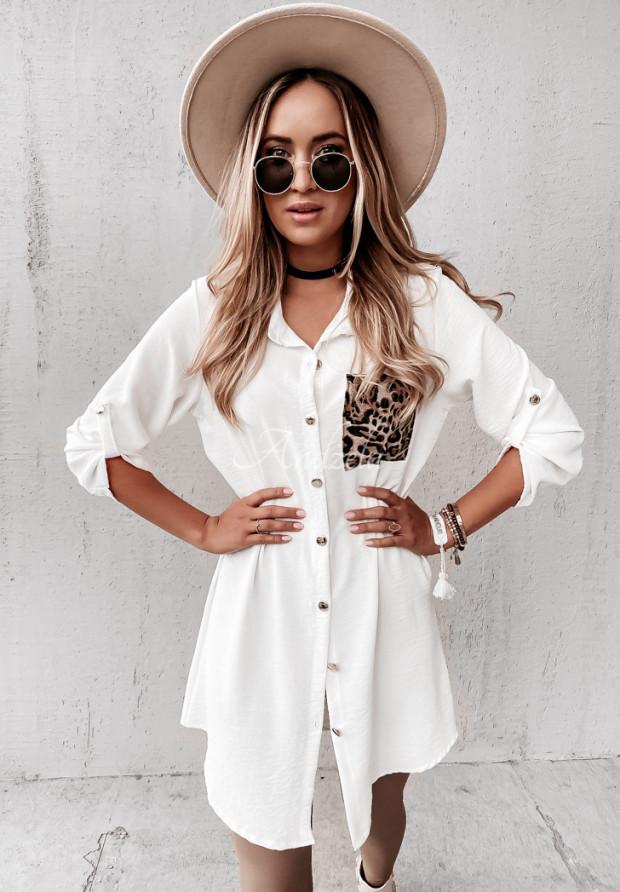 Sukienka Koszula Lugare White