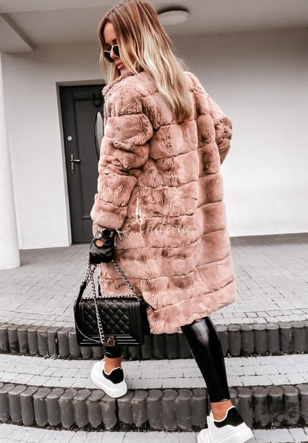 Płaszcz Futro Ingrid Nude