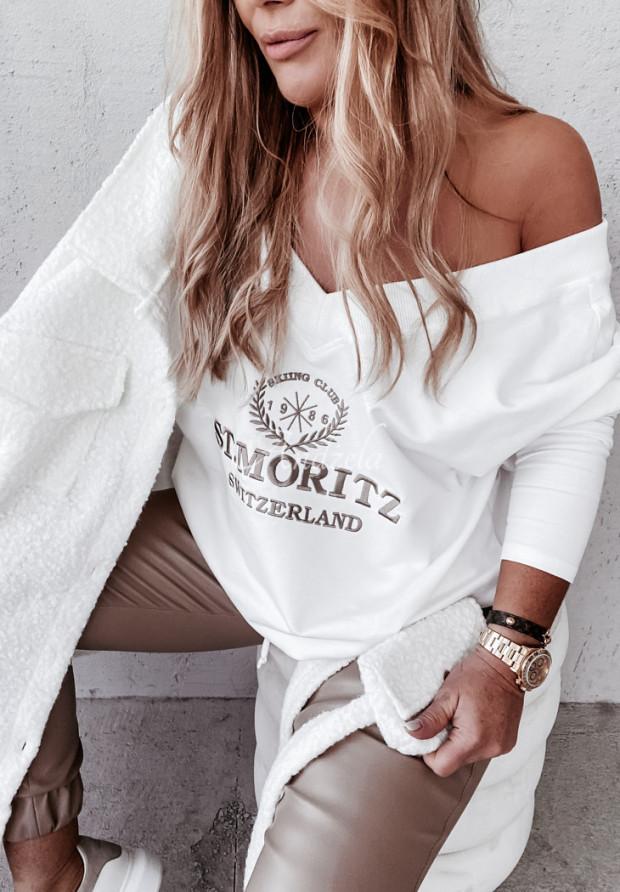 Bluza Oversize Laurell Ecru