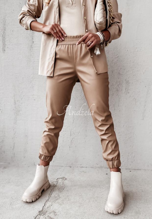 Spodnie Woskowane Farell Camel