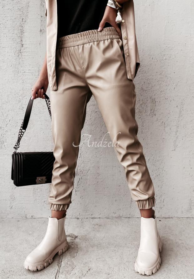 Spodnie Woskowane Farell Beige