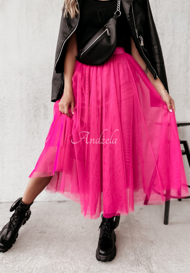 Spódnica Tiul Ginny Neon Pink