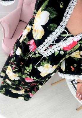 Sukienka Maxi Flores Czarna