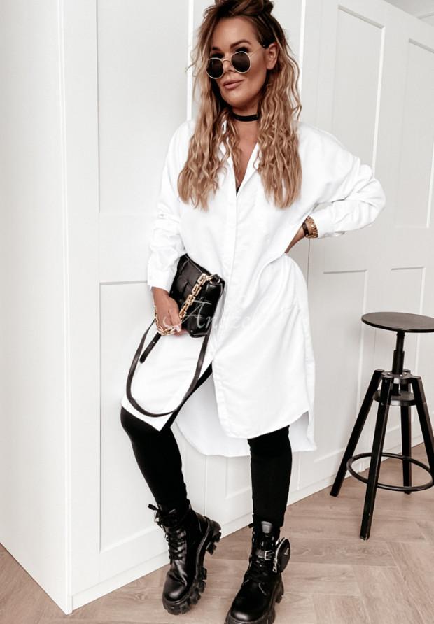 Sukienka Koszula Artibia White