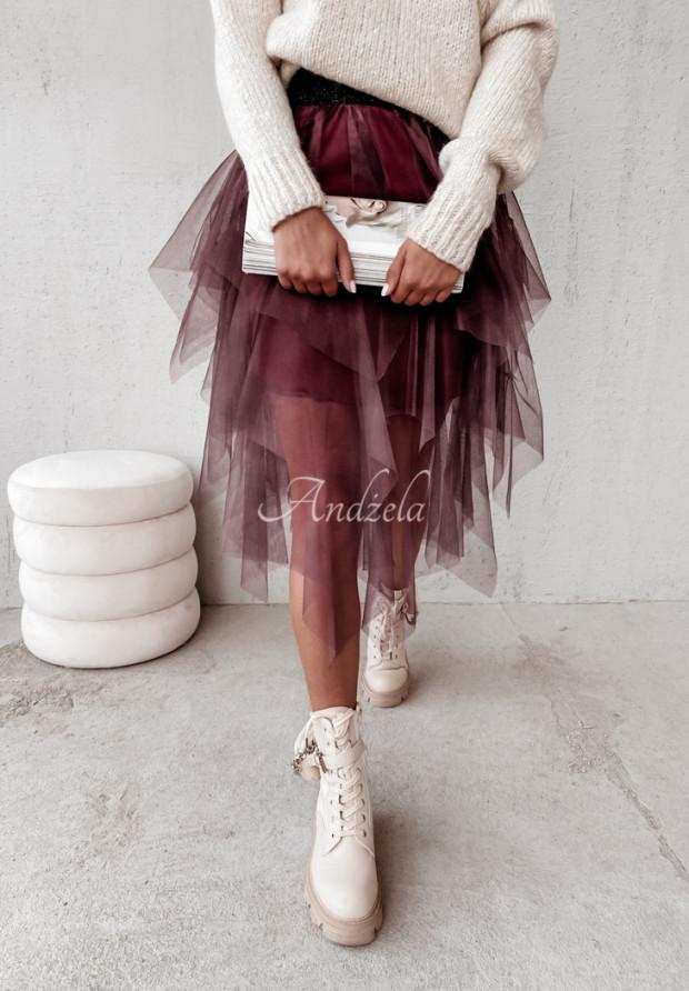 Spódniczka Tiul Melrose Burgund