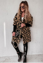 Płaszcz Kożuch Olivia Camel&Black