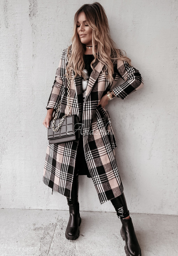 Płaszcz Krata Prinne Black&Camel