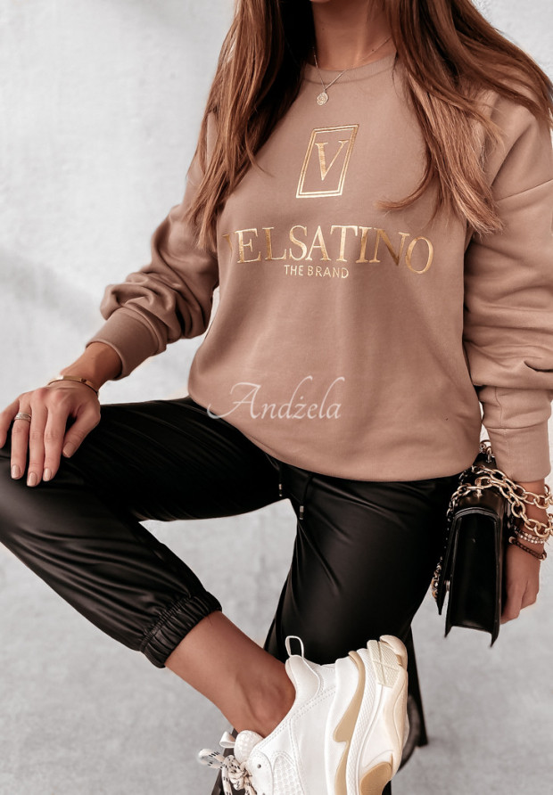 Bluza Velsatino Brand Mokka