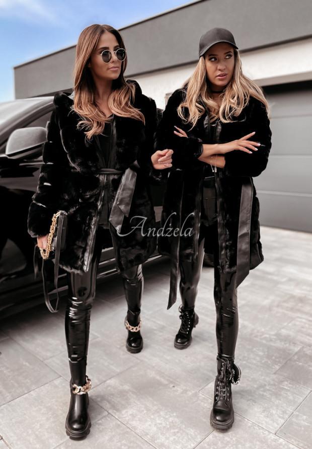 Płaszcz Futro Tardi Black