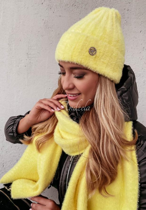 Czapka Alpaka Snowball Yellow