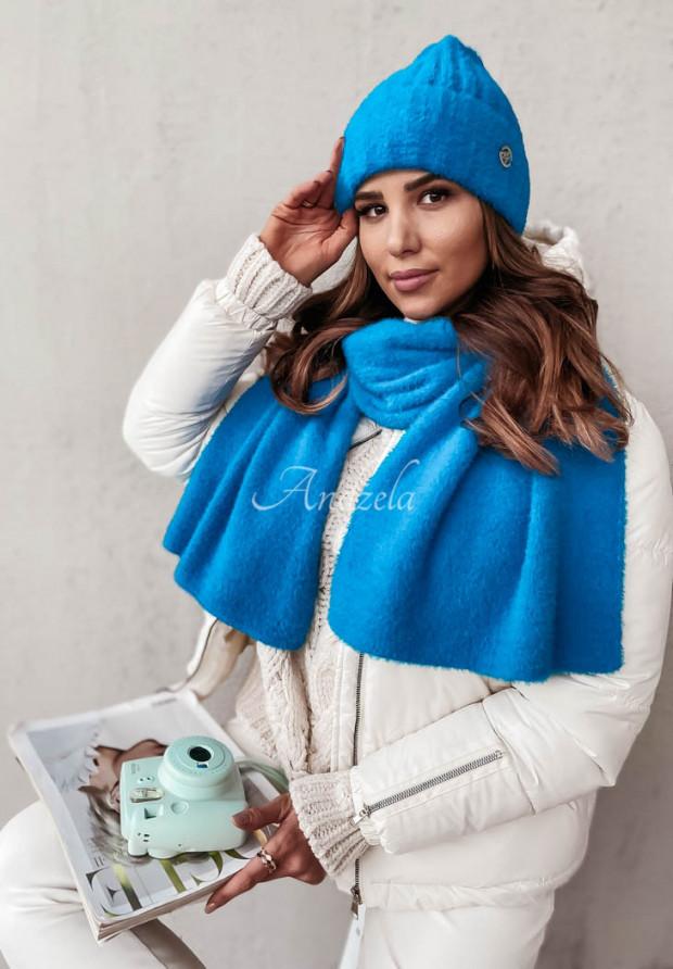 Czapka Alpaka Snowball Blue