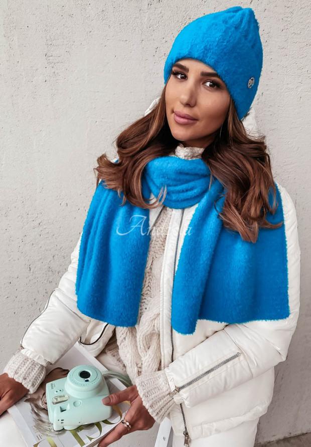 Szal Alpaka Snowball Blue