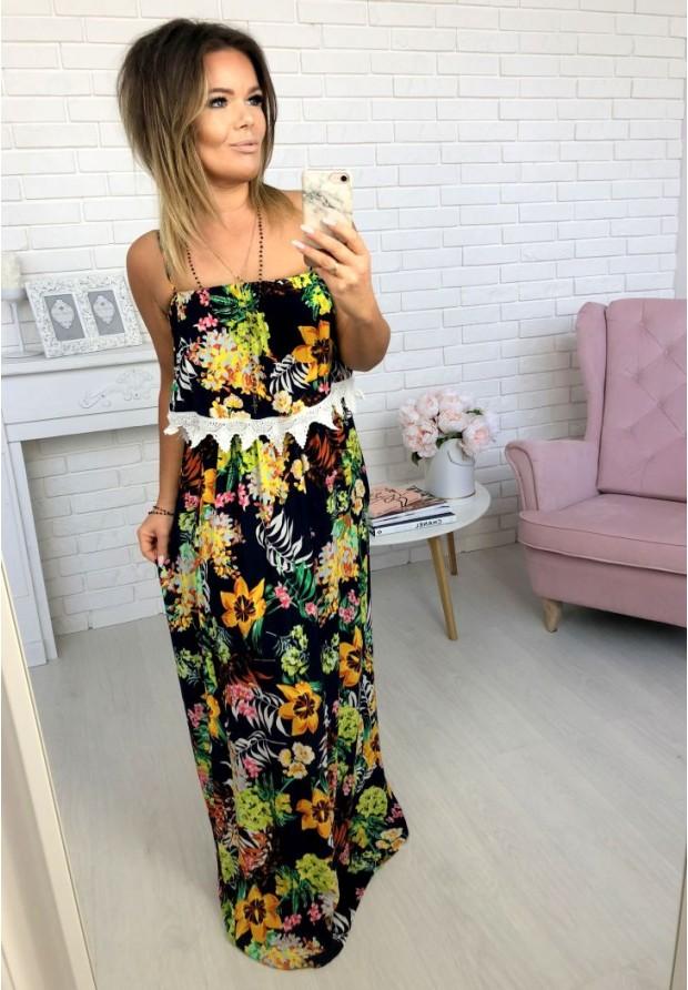 73637 Sukienka Maxi Caroline Granat