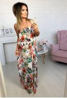 73637 Sukienka Maxi Caroline Biała