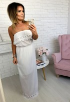 Sukienka Maxi Romance Biała
