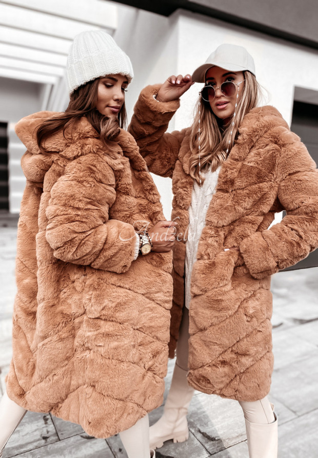 Płaszcz Futro Lynn Camel