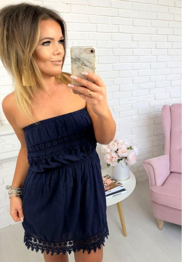 Sukienka Mini Romance Granat