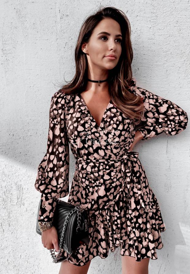 Sukienka Asla Hearts Black&Beige