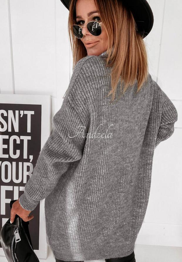 Sweter Golf Delicate Dark Grey