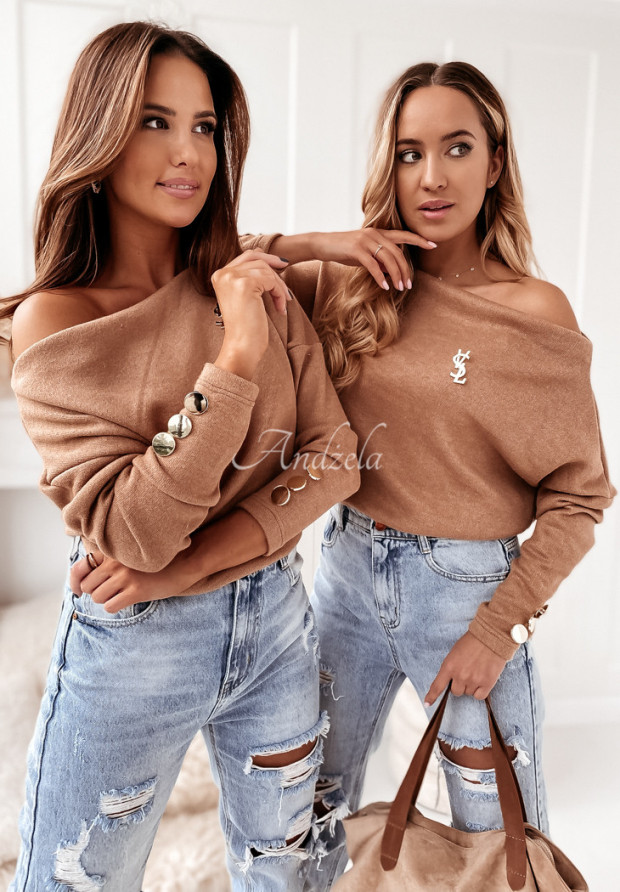 Sweter Comma Camel