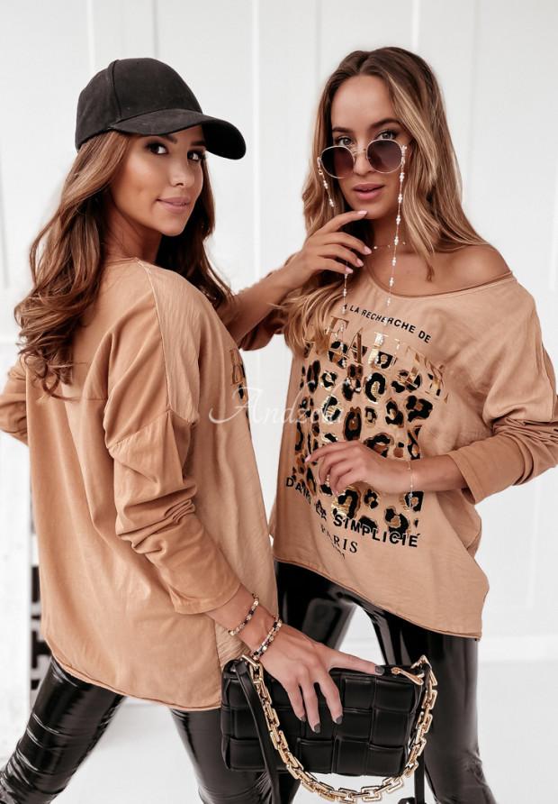 Bluzka Beaute Panter Camel