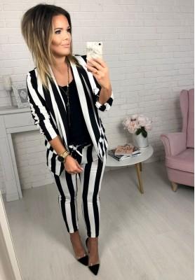 Spodnie Paski Velvet
