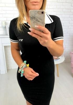 3810 Sukienka Polo Bebe Czarna