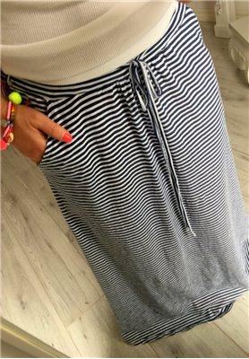 Spódnica Maxi Paski Granat