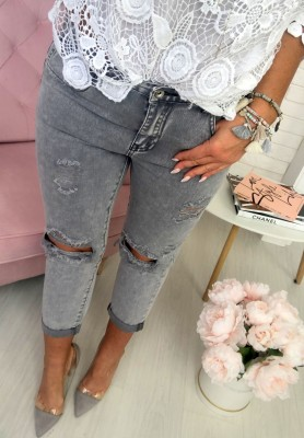 6961 Spodnie Lucky Grey
