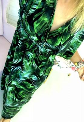 Sukienka Maxi Palms Black