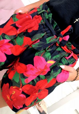 Shorty Flowers Black