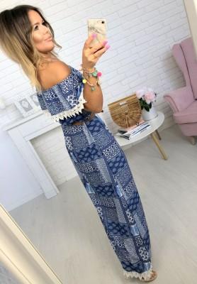 Sukienka Maxi Aztec Blue