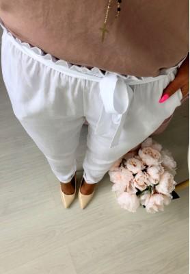 Spodnie Santana Białe