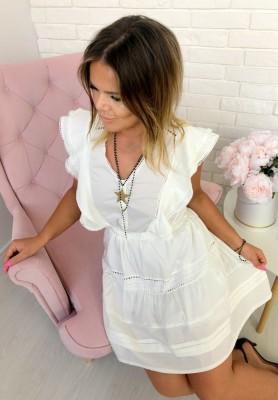JL131 Sukienka Justine Biała