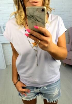 T-shirt V-neck Lawenda