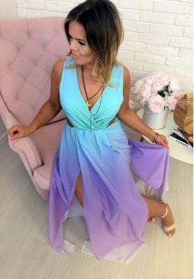 Sukienka Maxi Ombre Mint