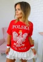 T-shirt Polska Czerwony