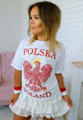 T-shirt Polska Biały
