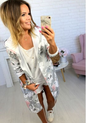 Bluza Parka Flowers Grey