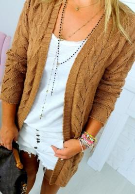 Sweter Kardigan Bridget Camel